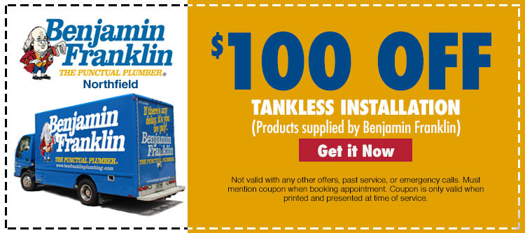 discount on tankless installtion