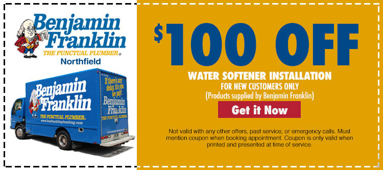 discount on water softener installation for new customers